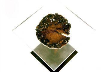 Decorazione di un tavolo in vetro di resina epossidica