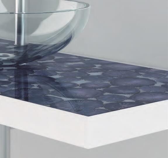 Lavandino modello Ciotola con top sospeso - Berloni Fabio