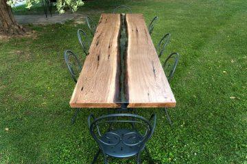 Tavolo esterno in resina epossidica - Berloni Fabio